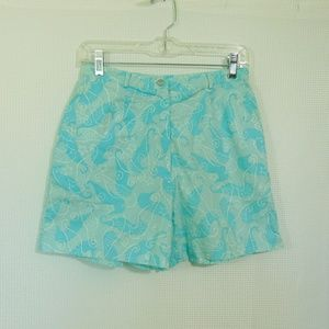 Lily Pulitzer Shorts Blue Under The Sea Sz 26